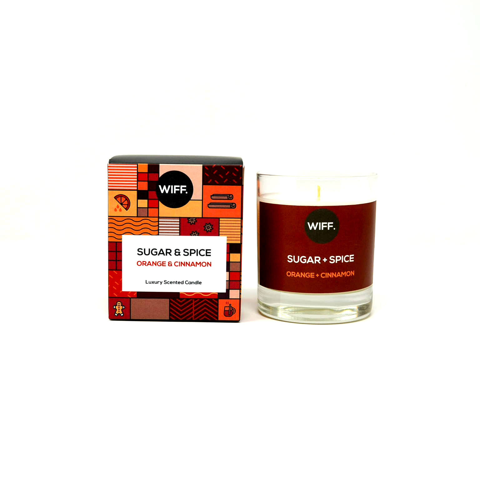 Orange Cinnamon Scented Candle Wiff